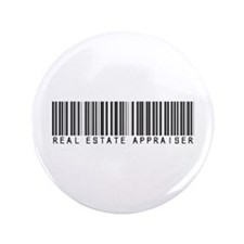 "Real Estate Appraiser Barcode 3.5"" Button"