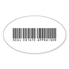 Real Estate Appraiser Barcode Oval Sticker (10 pk)