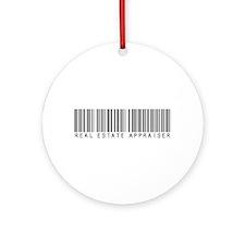 Real Estate Appraiser Barcode Ornament (Round)