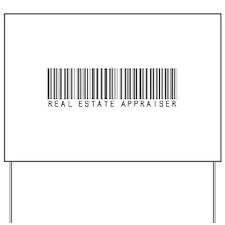 Real Estate Appraiser Barcode Yard Sign