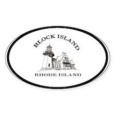 Block Island Oval Decal