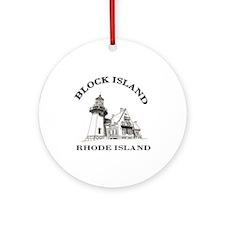 Block Island Ornament (Round)