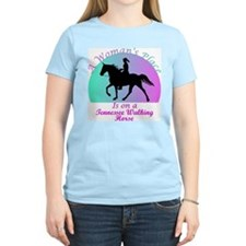 A Woman's Place is on a TWH! Women's Pink T-Shirt