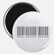 """Real Estate Broker Barcode 2.25"""" Magnet (100 pack)"""
