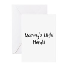 Mommy's Little Herald Greeting Cards (Pk of 10)