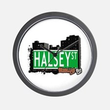 HALSEY ST, BROOKLYN, NYC Wall Clock