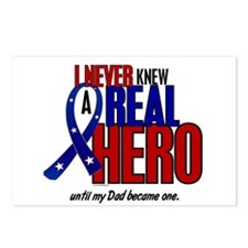 Never Knew A Hero 2 Military (Dad) Postcards (Pack
