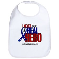 Never Knew A Hero 2 Military (Dad) Bib