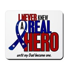 Never Knew A Hero 2 Military (Dad) Mousepad