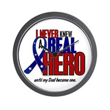 Never Knew A Hero 2 Military (Dad) Wall Clock