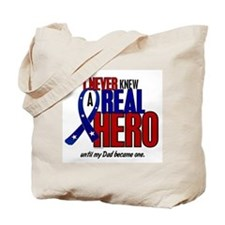 Never Knew A Hero 2 Military (Dad) Tote Bag