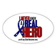 Never Knew A Hero 2 Military (Dad) Oval Decal