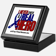 Never Knew A Hero 2 Military (Friend) Keepsake Box