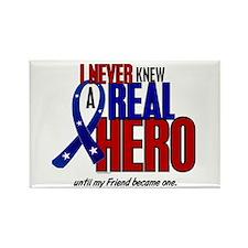 Never Knew A Hero 2 Military (Friend) Rectangle Ma