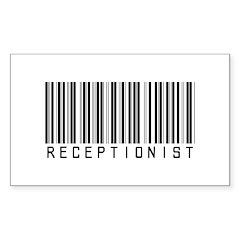 Receptionist Barcode Rectangle Sticker 10 pk)