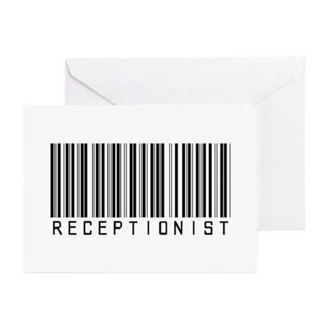 Receptionist Barcode Greeting Cards (Pk of 20)