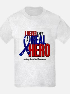 Never Knew A Hero 2 Military (Best Friend) T-Shirt