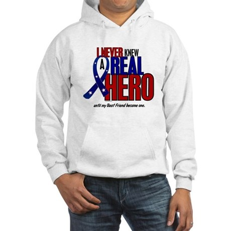 Never Knew A Hero 2 Military (Best Friend) Hooded