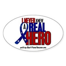 Never Knew A Hero 2 Military (Best Friend) Decal