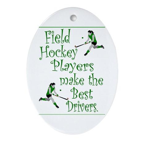 Field Hockey - Green - Keepsake (Oval)