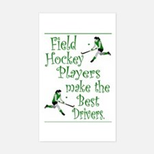 Field Hockey - Green - Rectangle Decal