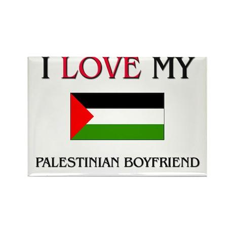 I Love My Palestinian Boyfriend Rectangle Magnet (