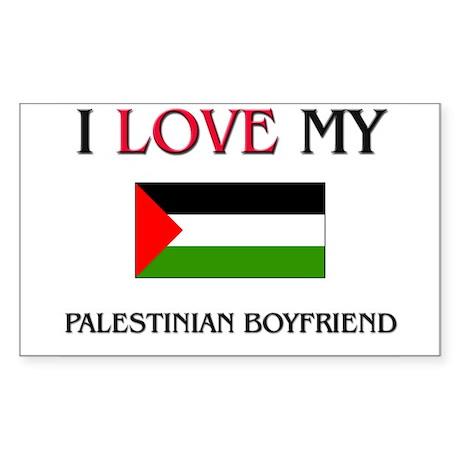 I Love My Palestinian Boyfriend Sticker (Rectangle