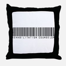 Rehabilitation Counselor Barcode Throw Pillow