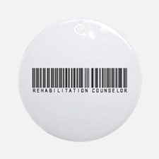Rehabilitation Counselor Barcode Ornament (Round)