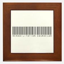 Rehabilitation Counselor Barcode Framed Tile