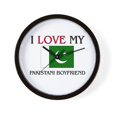 I Love My Pakistani Boyfriend Wall Clock