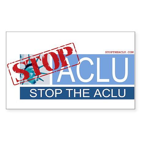 Stop the ACLU.com Rectangle Sticker