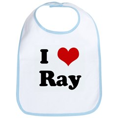 I Love Ray Bib