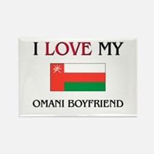 I Love My Omani Boyfriend Rectangle Magnet