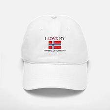 I Love My Norwegian Boyfriend Baseball Baseball Cap