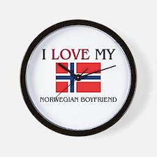 I Love My Norwegian Boyfriend Wall Clock