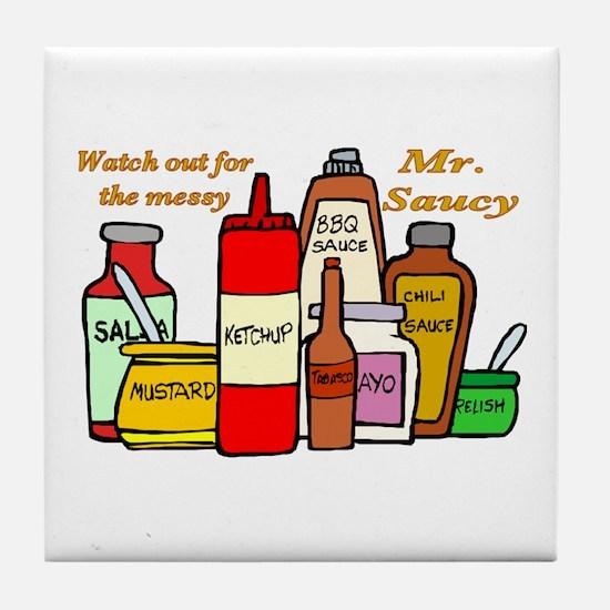 Mr. Saucy Tile Coaster