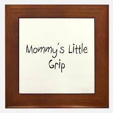 Mommy's Little Grip Framed Tile