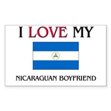 I Love My Nicaraguan Boyfriend Rectangle Decal
