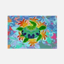 Flame Turtle Rectangle Magnet