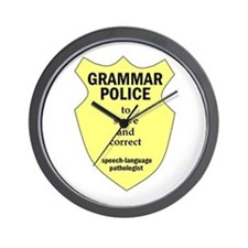 Grammar Police Speech Language Pathologist Wall Cl