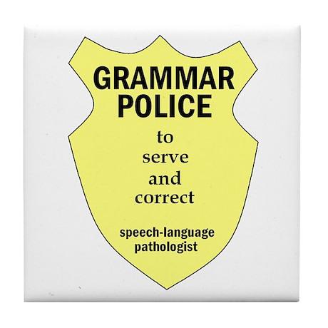 Grammar Police Speech Language Pathologist Tile Co