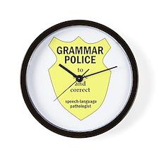 Grammar Police Speech Language Pathologist Wall Cl