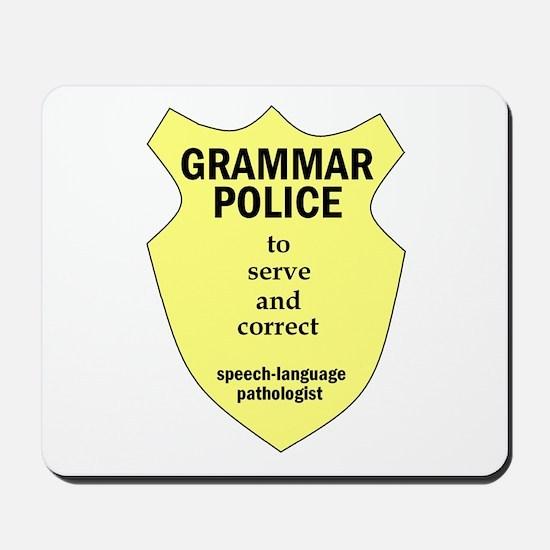 Grammar Police Speech Language Pathologist Mousepa