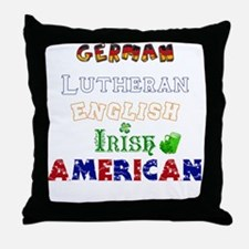 Personalized Nationality Throw Pillow