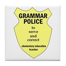 Grammar Police Elementary Education Teacher Tile C