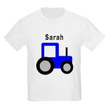 Sarah - Blue Tractor T-Shirt