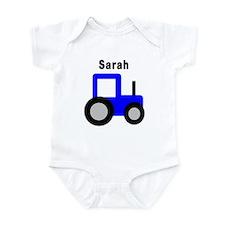 Sarah - Blue Tractor Infant Bodysuit