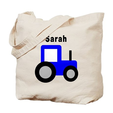 Sarah - Blue Tractor Tote Bag