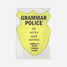 Grammar Police ESL Teacher Rectangle Magnet
